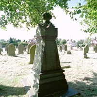 Monument to those who died at Over Cotton mill, Winsford, Cheshire