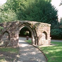 Arch from former St Mary's Benedictine Nunnery, Chester, Cheshire