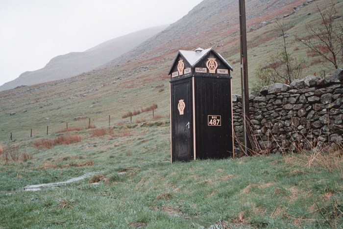 AA Telephone Call Box No 487, A591 Wythburn to Grasmere, Cumbria