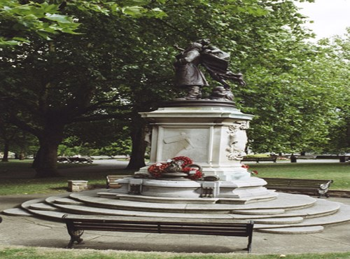 Statue of Captain Albert Ball, Castle Road, Nottingham