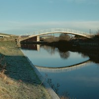 Concrete footbridge, Newark, Nottinghamshire