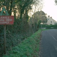 Road Sign, Ashill, Somerset