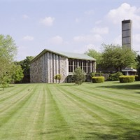 Chapel at Taunton Deane Crematorium, Taunton, Somerset