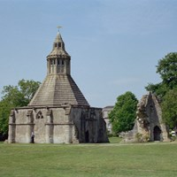 Abbot's Kitchen at Glastonbury Abbey, Glastonbury, Somerset