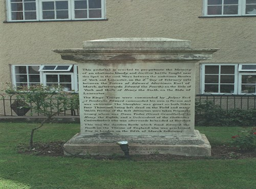 Battle of Mortimer's Cross Monument, Kingsland, Herefordshire