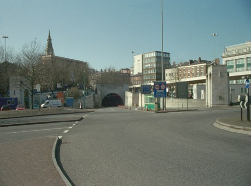 Entrance to Mersey Tunnel, Liverpool, Merseyside