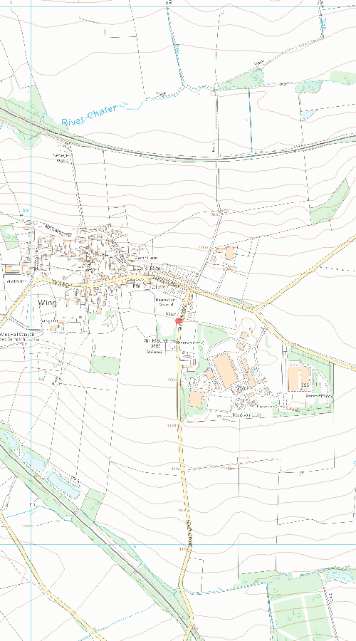 Ordnance survey map of Maze 220m south east of St Peter and St Paul's Church
