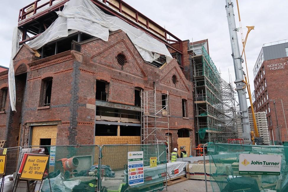 Norfolk Street – Restoration work in progress