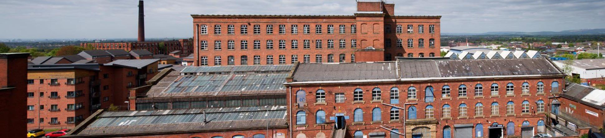 Mill complex at Hartford Works, Oldham, Greater Manchester