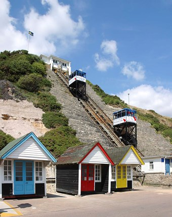 The West Cliff Railway at Bournemouth