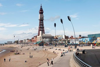 Blackpool beach with the Tower in the background