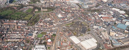 Aerial view of Rochdale