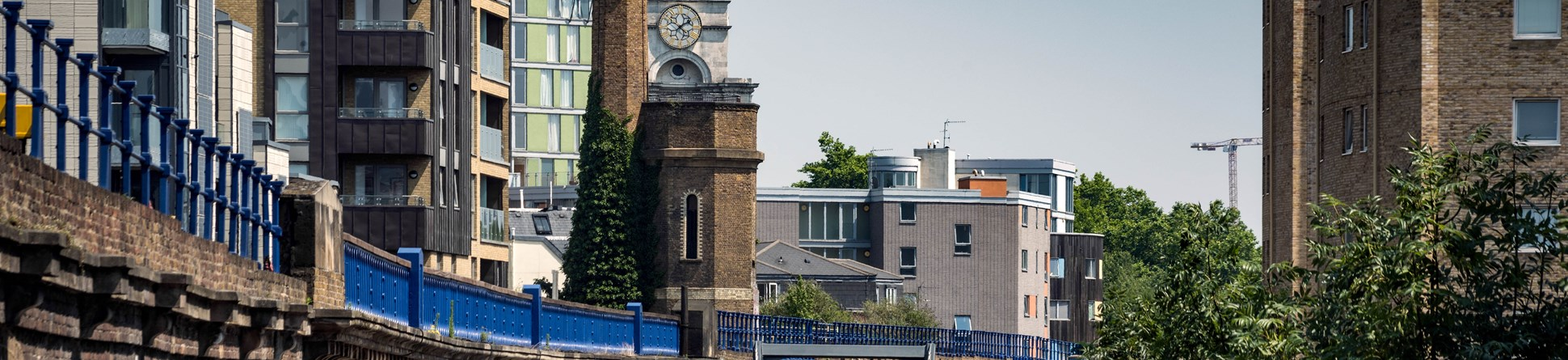 Accumulator Tower and Chimney, Limehouse Basin