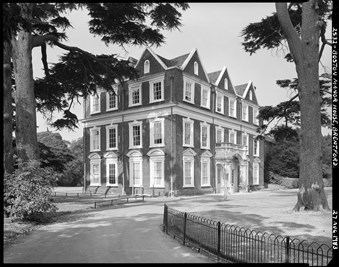Black and white picture of Boston Manor House, Brentford
