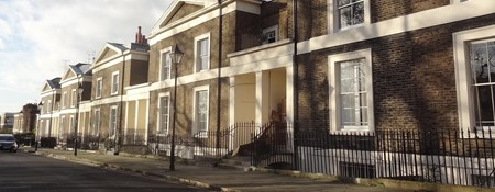 Listed villas in north London