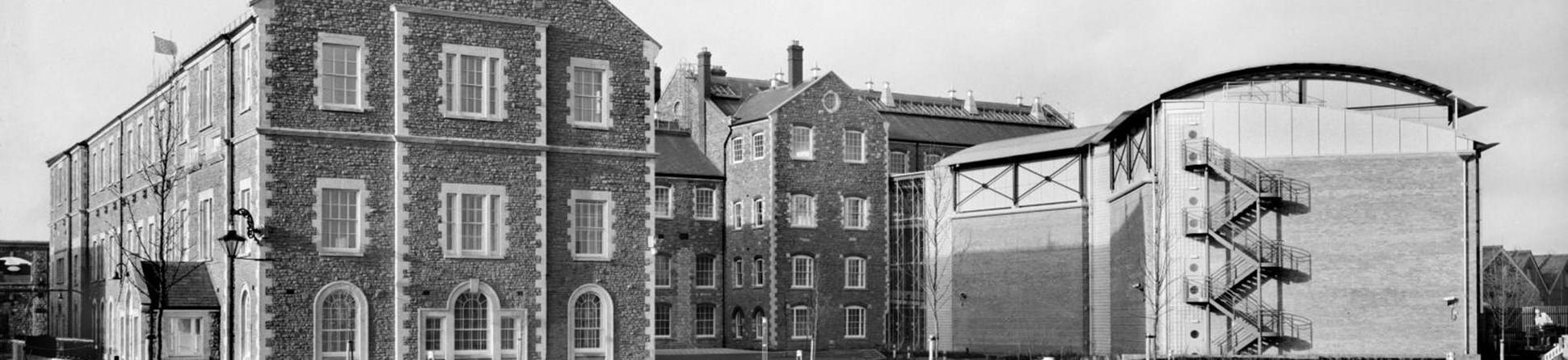 Black and white photo of Historic England Archive in 1994 (then National Monuments Record Centre.)