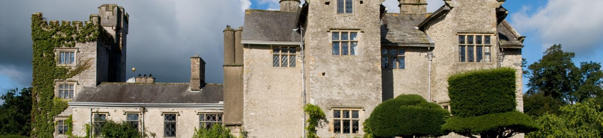 Photo of the outside of Levens Hall, a 16th century country house
