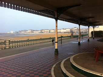 Promenade in Margate showing the interior tiles of the Promenade