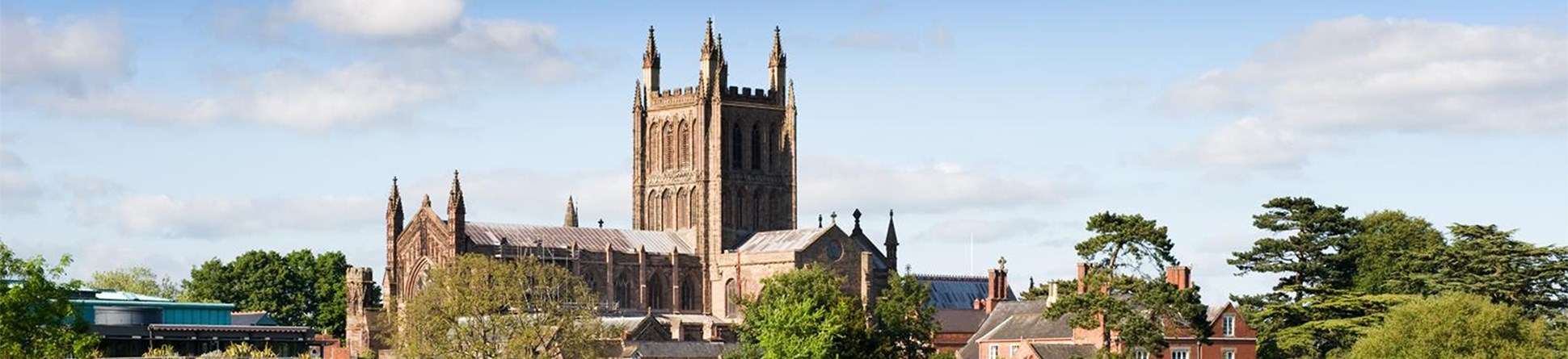 Hereford Cathedral, Hereford.  General view of cathedral.