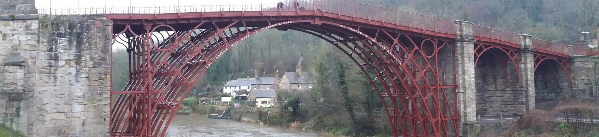 The Iron Bridge within the Ironbridge Gorge World Heritage Site, following the 2017/18 conservation project by English Heritage