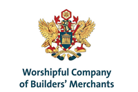 Logo text reads: Worshipful Company of Builders' Merchants. Crest moto reads: STAT FORTUNA DOMUS