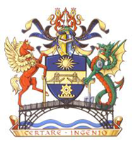 Worshipful Company of Engineers crest. Moto reads: CERTARE INGENIO