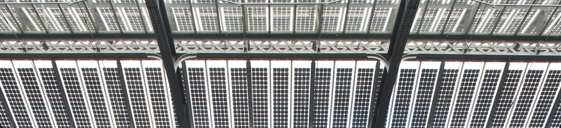 glass laminate rooftop showing photovoltaic cells