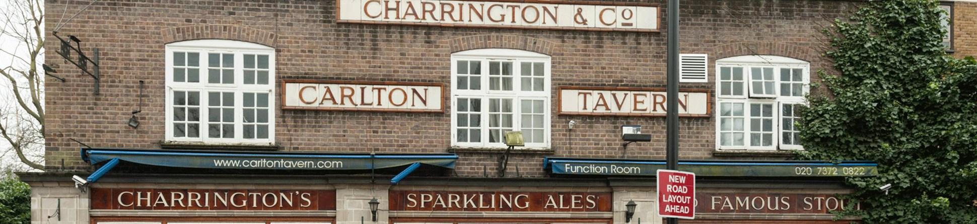Picture of the interwar pub, the Carlton Tavern Maida Vale, before demolition.
