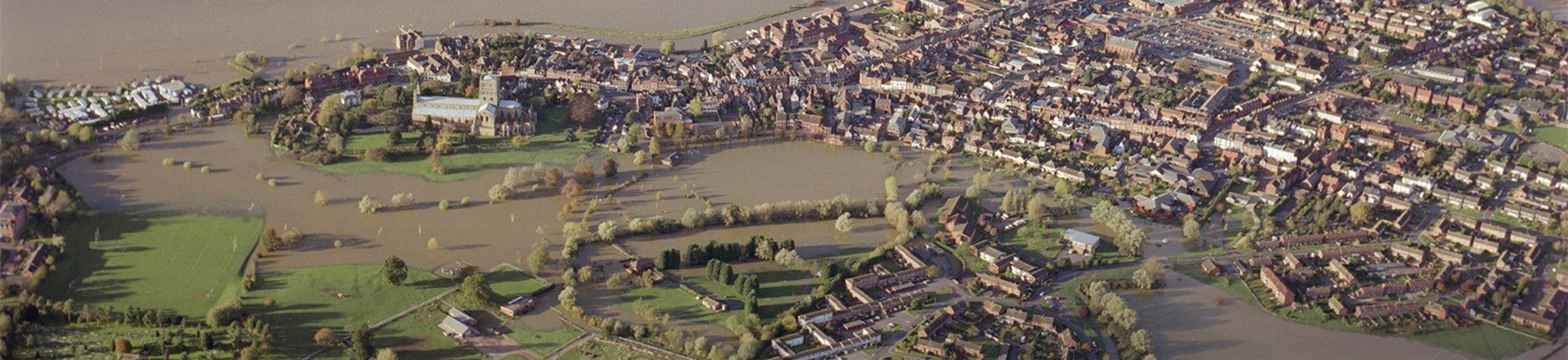 Flooding in and around Tewkesbury in 2007