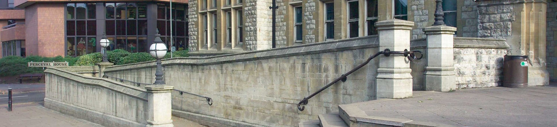 image of a ramp at Easling Town Hall, London, illustrating easy access to historic buildings