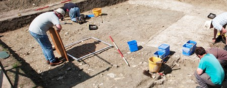 Photograph of archaeological excavation