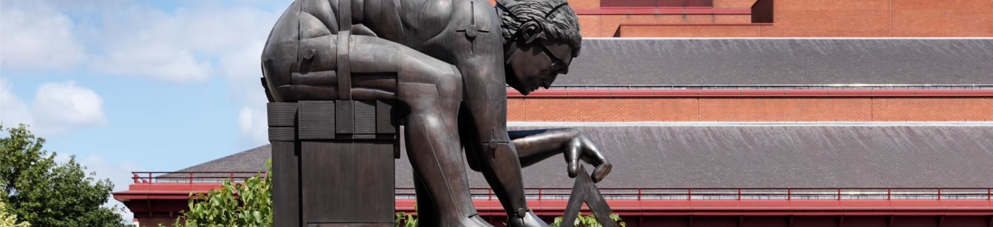 Newton After Blake, Eduado Paolozzi sculpture in the courtyard of the British Library.