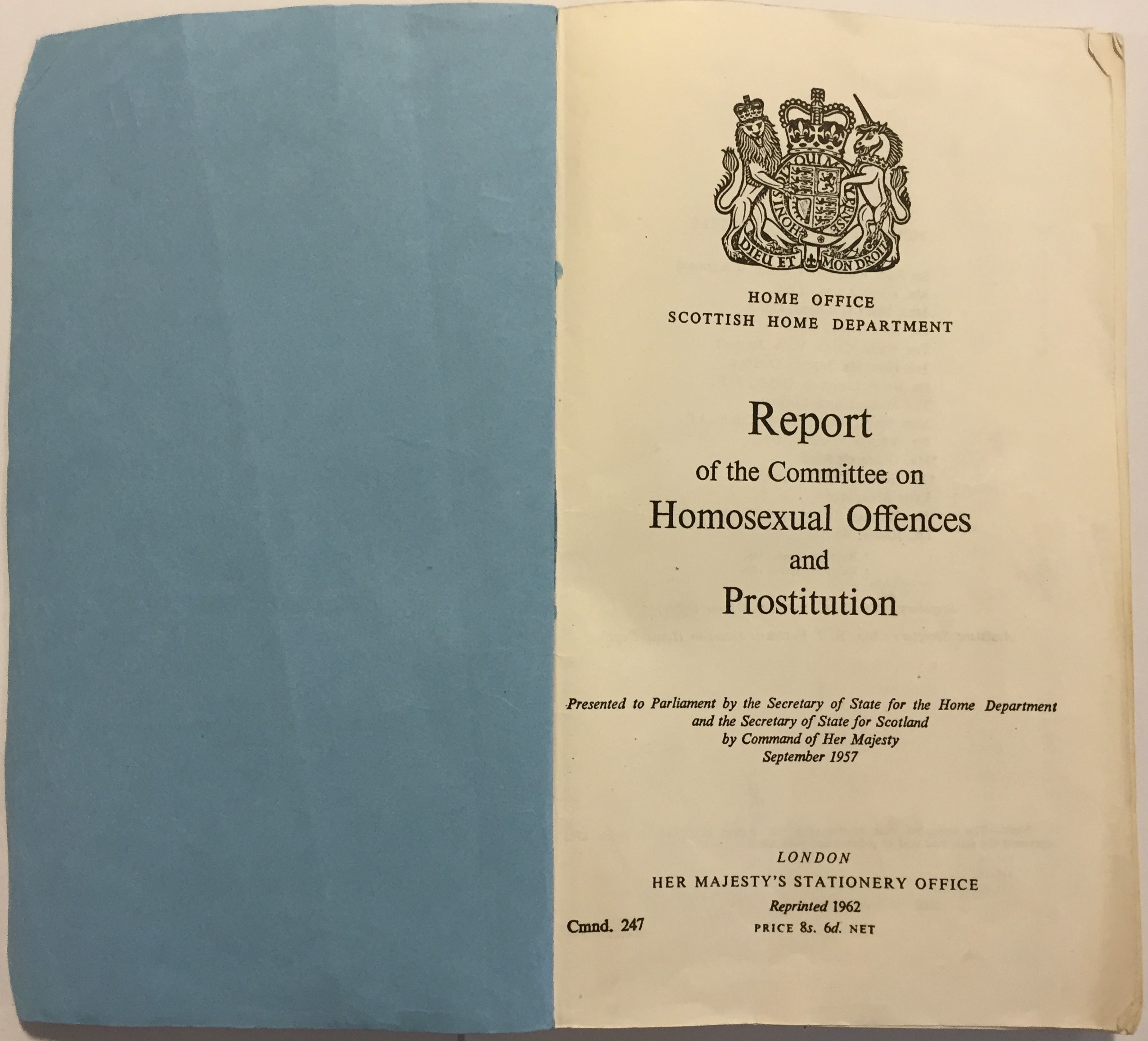 Wolfenden committee on homosexual offences and prostitution