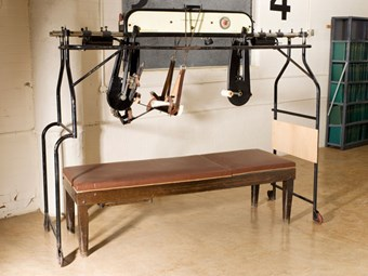 A 'Bed Cycle' from Stoke Mandeville hospital used for rehabilitative work.