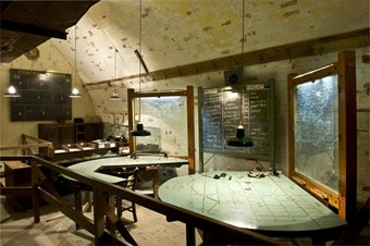 Anti-Aircraft Operations Room, Wartime Tunnels, Dover Castle