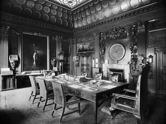 The Admiralty boardroom in London in 1894