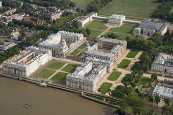 The former home for injured seamen established at Greenwich by Queen Mary