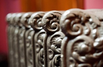 Detail of a late-19th-century decorative radiator