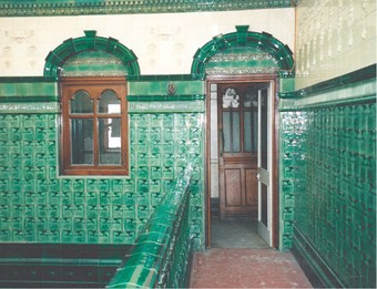 At Manchester's Victoria baths, the rooms are extensively tiled
