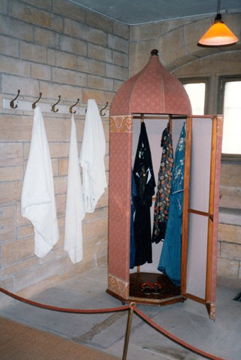 Lord Armstrong's Cragside Turkish bath – the wardrobe