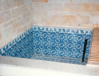 Lord Armstrong's Cragside Turkish bath – The Turkish bath plunge pool