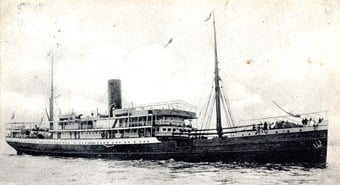 Postcard of the SS Mendi