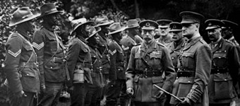 George V inspecting the troops