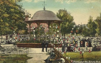 Victoria Park bandstand, Portsmouth, Hampshire, erected in 1878.