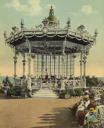 Westcliff bandstand, Southend-on-Sea, Essex.