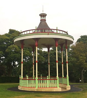 A re-creation of a lost bandstand in Dartmouth Park, West Bromwich