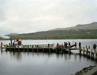 Victorian Steam Gondola at Brantwood Pier, John Ruskin's House, Brantwood Estate, Cumbria © Historic England