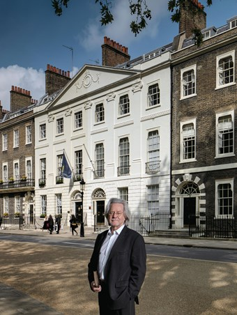 Professor AC Grayling in Bedford Square, London.