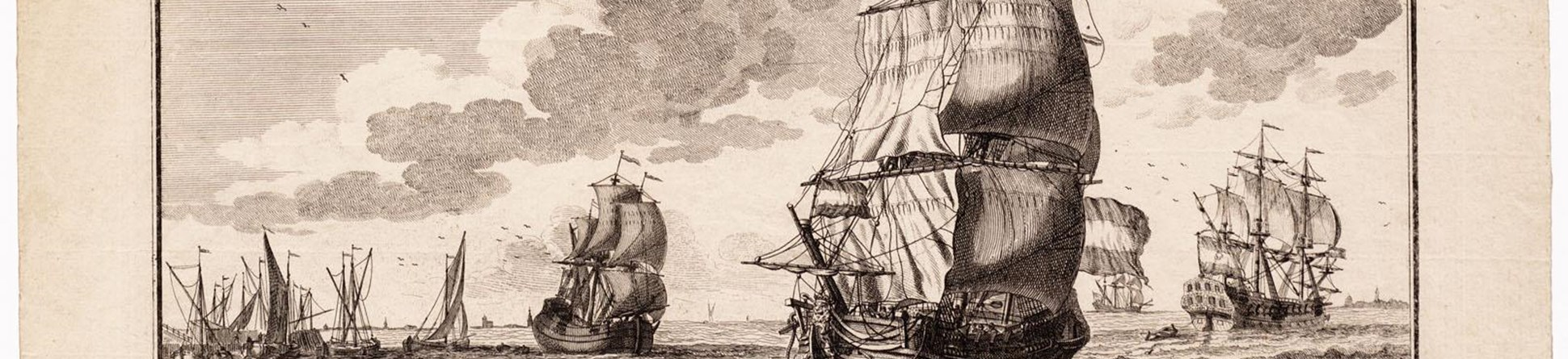 A drawing of a ship similar to the Rooswijk – a Dutch 'hekboot', by Adolf van der Laan in 1716.