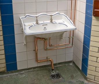 Original fittings in Nelson Street public conveniences, which opened in 1926 and is now Grade II listed